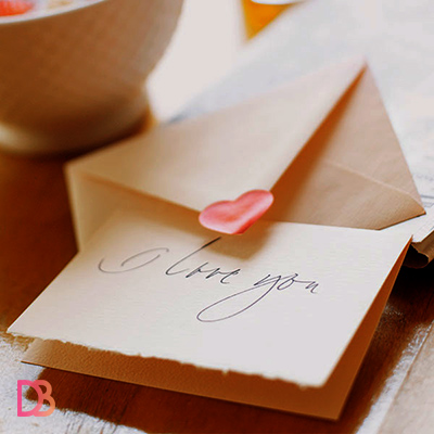 a romantic love letter for her